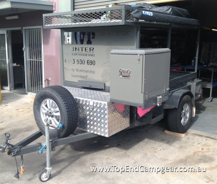 Camp Kitchen Customised for Motorbike Trailer -