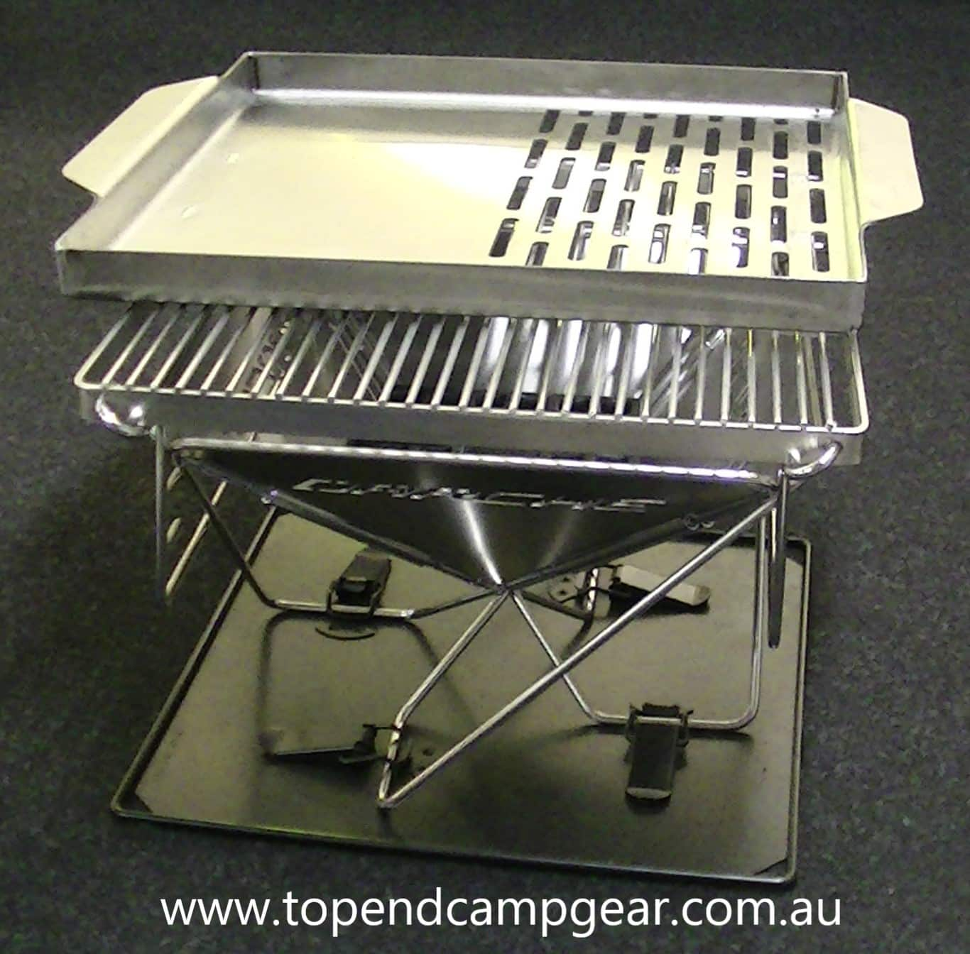 Fire Pit Gallery - https://www.topendcampgear.com.au/wp-content/uploads/2019/04/SS-Plate-on-a-310-BBQ-web.jpg