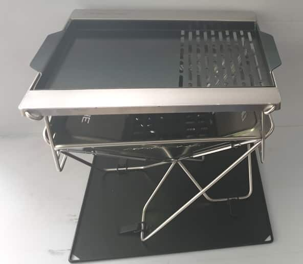 1/2 BBQ Plate 1/2 Grill to suit Darche 450 Stainless Steel BBQ -