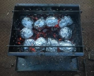 Baking in the Coals, Bush Microwave
